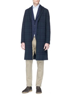 Harris Wharf London Check plaid oversized coat