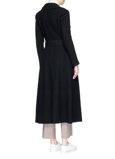 Harris Wharf London Belted cashmere melton long duster coat