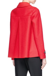Harris Wharf London Inverted pleated cape back virgin wool Loden coat
