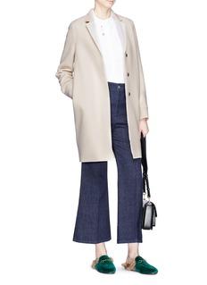 Harris Wharf London 'Cocoon' pressed virgin wool coat