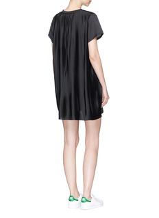 Adidas Plissé pleated back mini T-shirt dress