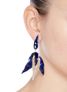 Elizabeth and James 'Asher' leaf drop earrings