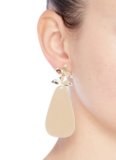 Elizabeth and James 'Willow' petal geometric drop earrings