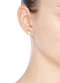 Elizabeth and James 'Isabelle' floral petal stud earrings