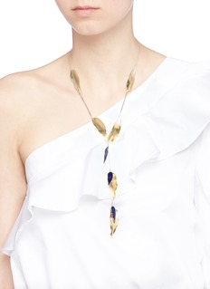 Elizabeth and James 'Lillia' leaf pendant necklace