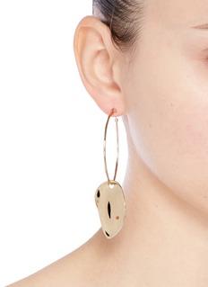 Elizabeth and James 'Ivy' hoop sculptural drop earrings