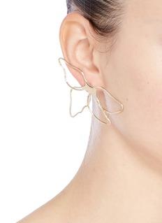 Elizabeth and James 'Zada' cutout floral earrings