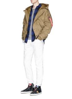 Alpha Industries Retractable hood padded hopsack jacket