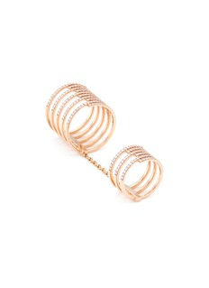Messika 'Gatsby Double' diamond 18k rose gold chain ring