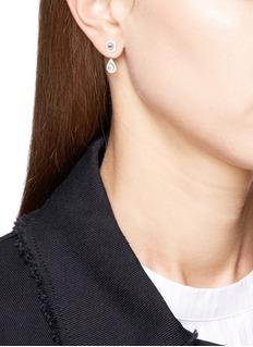 Messika 'My Twin Toi & Moi' diamond 18k white gold earrings