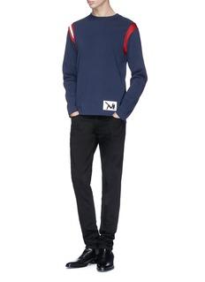 CALVIN KLEIN 205W39NYC Brooke Shields patch contrast stripe sweatshirt