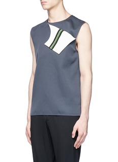 CALVIN KLEIN 205W39NYC Front flap wool twill sleeveless top