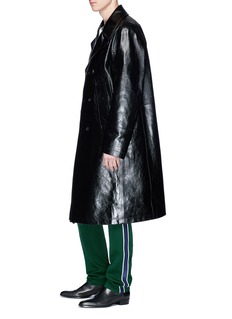 CALVIN KLEIN 205W39NYC Calfskin leather pea coat