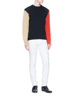 CALVIN KLEIN 205W39NYC Colourblock mix knit sweater