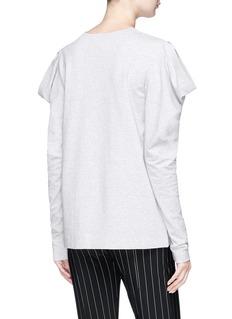 Norma Kamali 'Wing' cutout shoulder sweatshirt