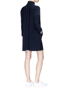 Norma Kamali 'NK Box' herringbone shirt