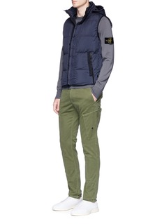 Stone Island Garment dyed down puffer vest