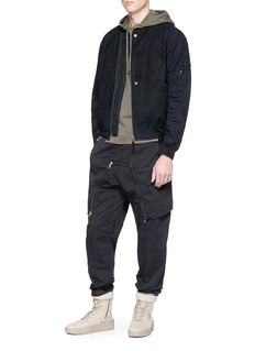 Stone Island Zip panel cotton-wool pants