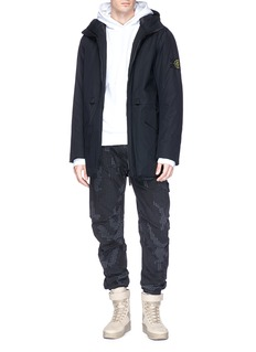 Stone Island Check grid camouflage print ripstop pants