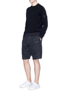 Stone Island Ruched sleeve stretch sweater