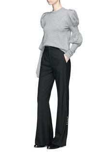 ADEAM Puffed bishop sleeve cashmere sweater