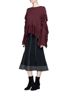ADEAM Ruffle drape sweater