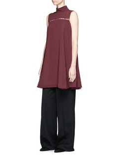 ADEAM Guipure lace godet A-line dress