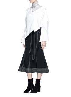 ADEAM Asymmetric deconstructed cascade suiting top