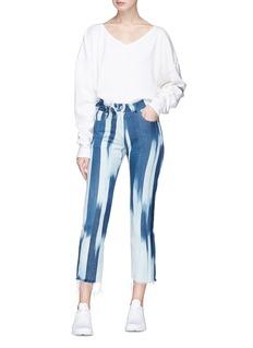 Faustine Steinmetz Merino wool cropped ripped pants