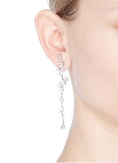 CZ by Kenneth Jay LaneCubic zirconia link drop earrings