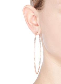 CZ by Kenneth Jay Lane'Inside Out' cubic zirconia skinny hoop earrings