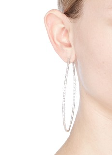 CZ by Kenneth Jay Lane 'Inside Out' cubic zirconia skinny hoop earrings