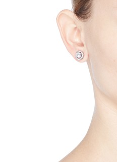 CZ by Kenneth Jay LaneCubic zirconia floating stud earrings