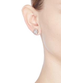 CZ by Kenneth Jay LaneCubic zirconia starburst stud earrings