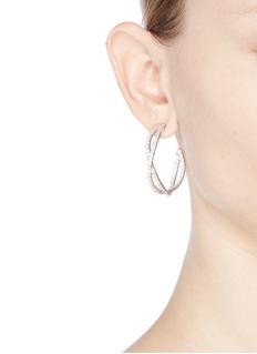 CZ by Kenneth Jay Lane'Eternity' cubic zirconia twist hoop earrings
