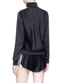 Adidas 'Europa' 3-Stripes plissé pleated back track jacket