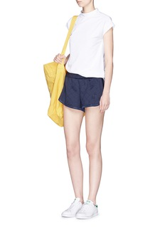 Adidas Diamond pattern embossed track shorts