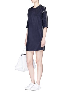 Adidas 'NMD' branded taping reversible taffeta dress