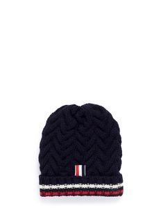 Thom Browne Chevron cable knit beanie