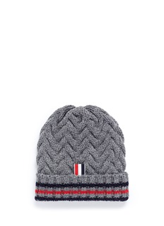 Thom Browne Chevron cable knit beanie