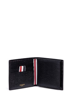 Thom Browne Leather bifold wallet with folded cardholder