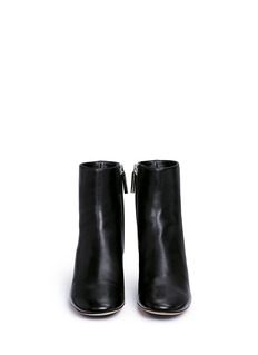 RODO Embellished heel leather ankle boots
