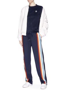 Adidas Faux shearling bomber jacket