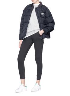 Adidas 'SST' logo print down puffer jacket