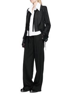 ANN DEMEULEMEESTER Velvet sash patchwork blazer