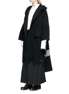 Yohji Yamamoto Belted wrap overlay wool suiting saroul pants