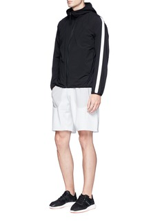 Adidas x Reigning Champ grid jersey panel sweat shorts