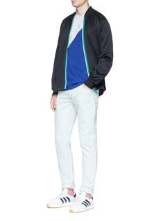 Adidas 'Hawthorne' contrast tape spacer bomber track jacket