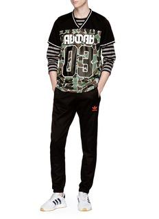 Adidas Camouflage print mesh panel T-shirt