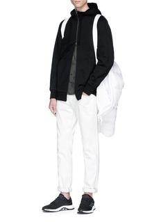 Adidas 'XBYO' reflective print zip hoodie
